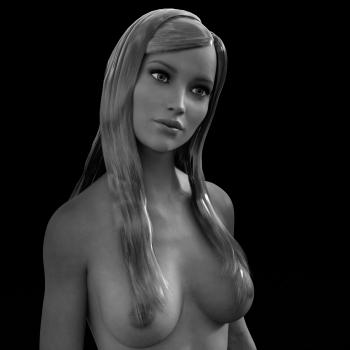 3D Rendered Woman Portrait