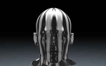 3D Sculpture of Man's Head