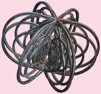 6 Tori or 3D Lissajous figures - Mathematica / 6個の輪環(りんかん)または立体(りったい)リサージュ図形(ずけい)