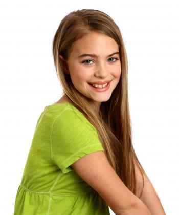 A beautiful young girl posing