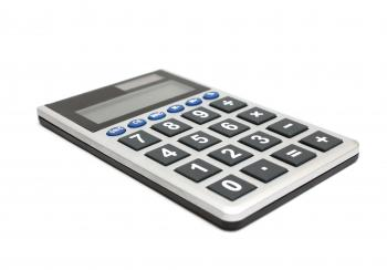 A calculator isolated on white