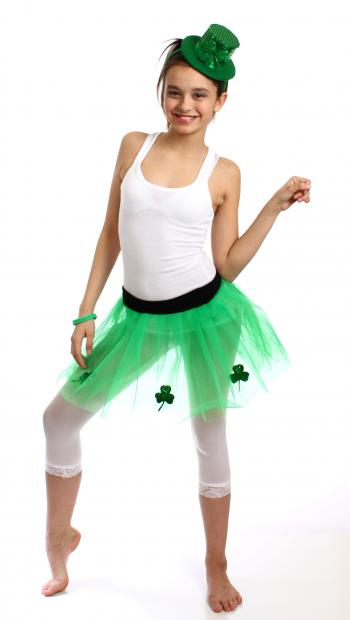 A girl dressed for Saint Patrick's Day