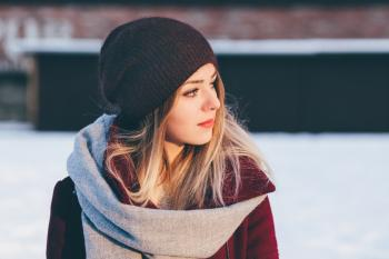 A girl winter portrait