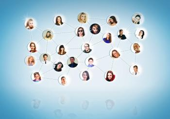A Network of People - Networking Concept