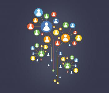 A Network of Personal Connections and Contacts