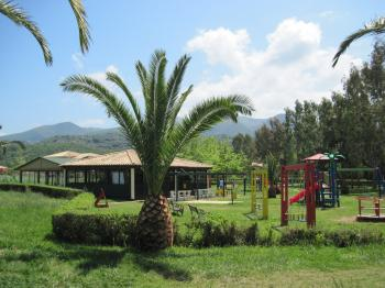 A playground in the resort