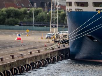 A ship at port