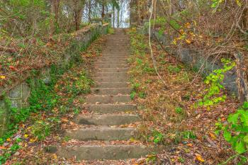 Abandoned Autumn Stairway - HDR