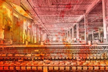 Abandoned Lonaconing Silk Mill - Pastel Grunge