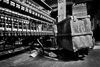 Abandoned Silk Mill - Black & White HDR