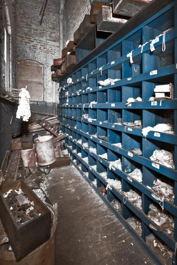 Abandoned Silk Mill Storage Room