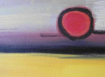 Abstract Art Sunset Background