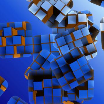 Abstract Blue Box 3D Background