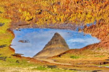 Abstract Kirkjufell Reflection
