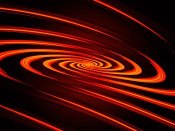 Abstract light spiral