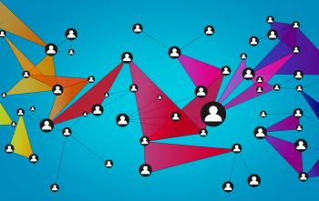 Abstract Network of People - Social Networks - Blue Background
