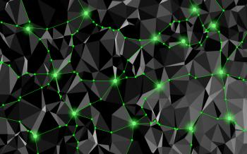 Abstract Network with Delaunay Triangles