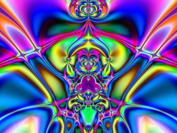 Abstract Open Heart Fractal