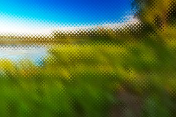 Abstract Pixelscape - Isle La Motte