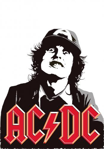AC/DC Angus Young Poster