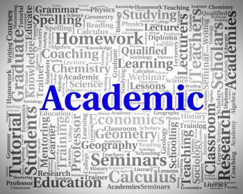 Academic Word Represents Military Academy And Academies