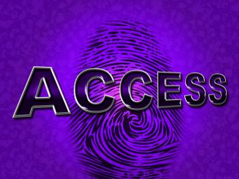 Access Security Indicates Forbidden Accessible And Entrance