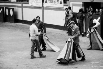 Accueil des Novilleros (matadors)-à Magescq France