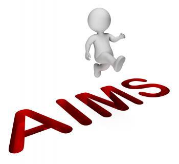 Achieve Aims Means Achievement Direction And Progress 3d Rendering
