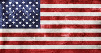Acrylic Grunge Flag - USA