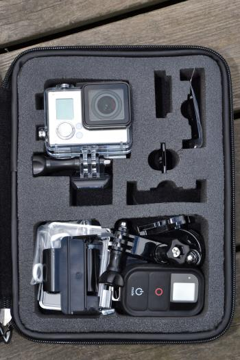 Action camera in a case
