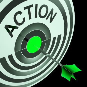 Action Shows Emergency Urgent Or Motivating Act