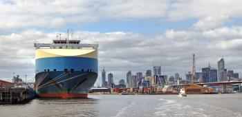 Adria Ace. Car carrier Port of Melbourne.