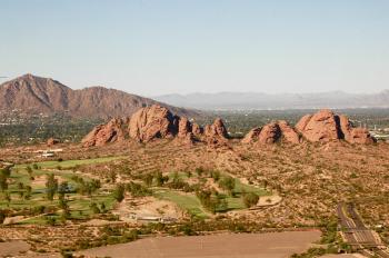 Aerial Desert Hills Arizona