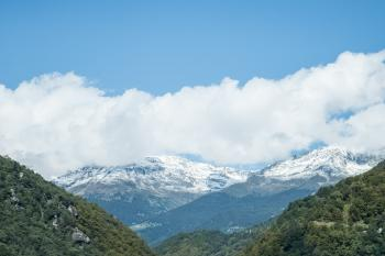 Aerial Image of Mountain Covered by Snow