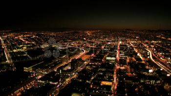 Aerial Photo of City during Night Time