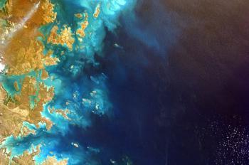 Aerial shot of Australia