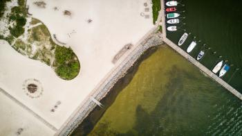 Aerial Shot Of Jetty