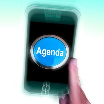 Agenda On Mobile Phone Shows Schedule Program