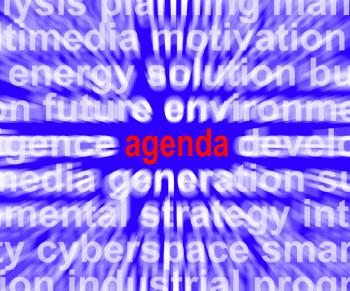 Agenda Word Means Program Schedule Or Line up