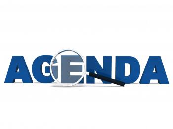 Agenda Word Means To Do Schedule Program Or Agendas