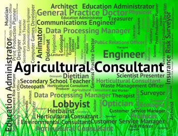 Agricultural Consultant Represents Employee Job And Cultivation