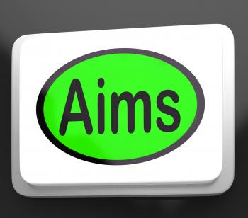 Aims Button Shows Targeting Purpose And Aspiration