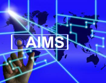 Aims Screen Shows International Goals and Worldwide Aspirations