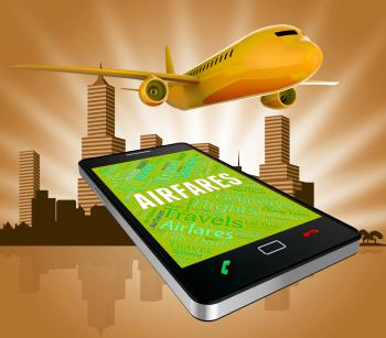 Airfares Online Represents Selling Price And Aeroplane