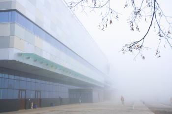 airport and fog