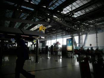 Airport Interior Traveller Silhouette