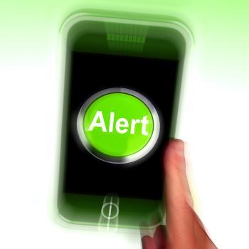 Alert Mobile Shows Alerting Notification Or Reminder
