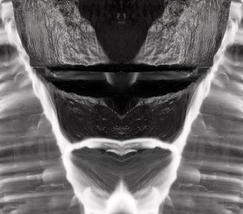 Alien Tribal Mask - Black & White