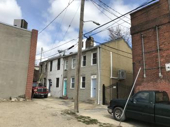 Alley houses, 411-417 Griffin Court, Baltimore, MD 21231