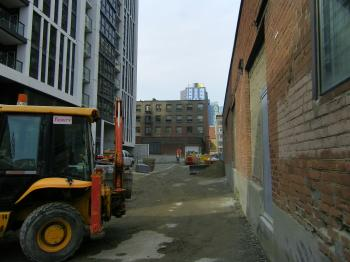 Alley north of the 'Ivory' - Phase one, 2014 09 02 (2)